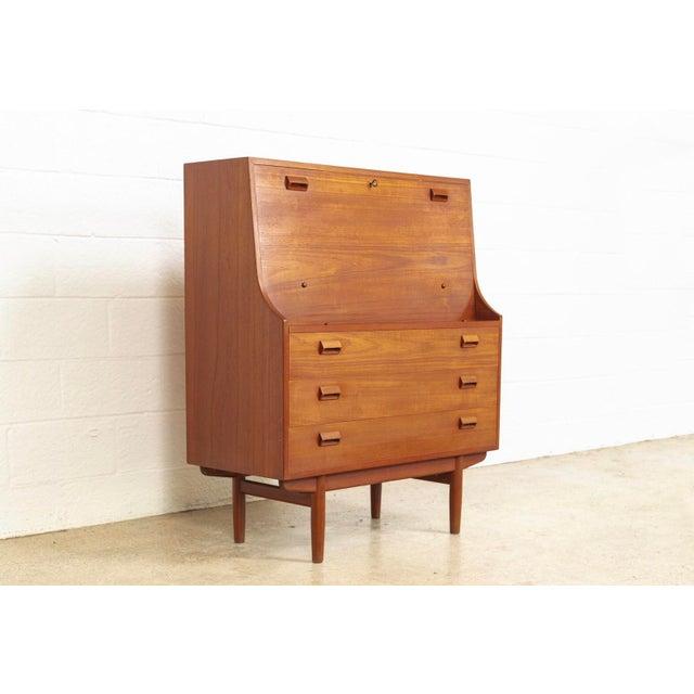 Danish Modern Mid Century Danish Modern Borge Mogensen Teak Wood Secretary Desk For Sale - Image 3 of 11