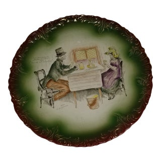 Late 19th Century Antique Charles Dickens Wall Plate For Sale