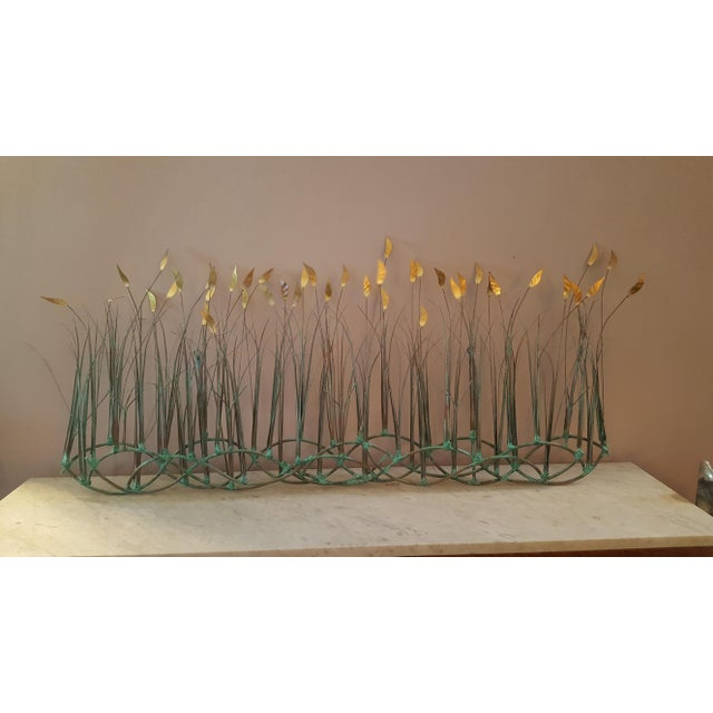 Metal Sea Oats Wall Art Sculpture by Max Howard For Sale - Image 7 of 9