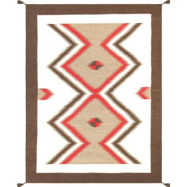 "Navajo Decorative Hand-Woven Rug - 5'1"" X 6'11"" - Image 1 of 3"