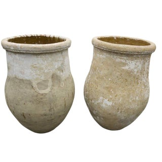 Spanish Terracotta Urns From Andalusia - a Pair For Sale