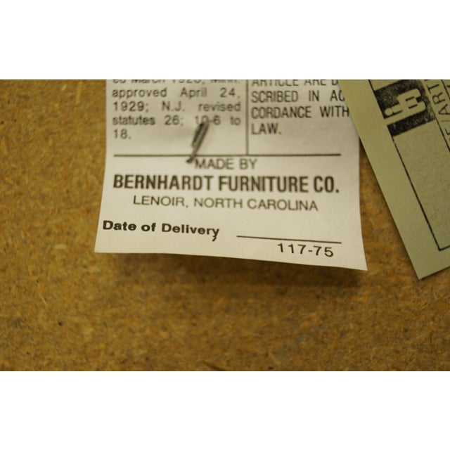 Late 20th Century Bernhardt Furniture Italian Provincial Cane Back Dining Arm Chair For Sale - Image 10 of 11