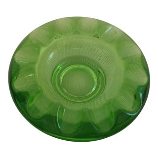 1970s Art Deco Emerald Green Murano Glass Ashtray For Sale