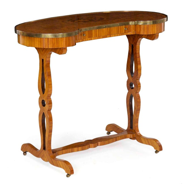 19th Century French Louis XVI Kingwood Antique Writing Table Console For Sale - Image 13 of 13