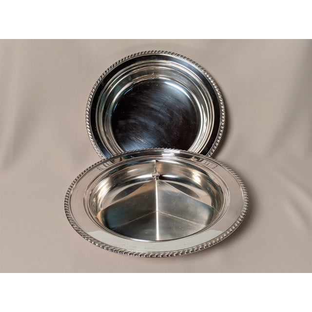 1940s Epc 1940s Silver Plate Serving Dish For Sale - Image 5 of 13
