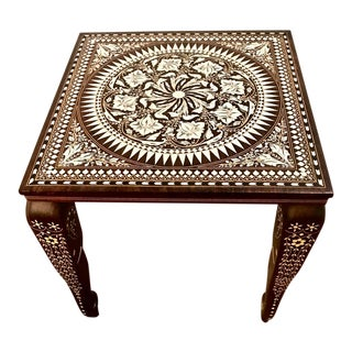 20th Century Indian Inlaid Side Table For Sale