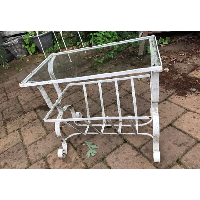 Salterini Style Outdoor Wrought Iron Side Table - Image 9 of 9