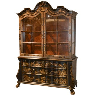 Fine Baker Chinoiserie Dutch Display Cabinet For Sale