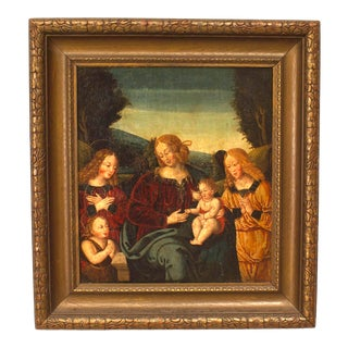Italian Renaissance Madonna and Child Painting For Sale