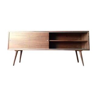 Midcentury Style Custom Walnut Credenza For Sale