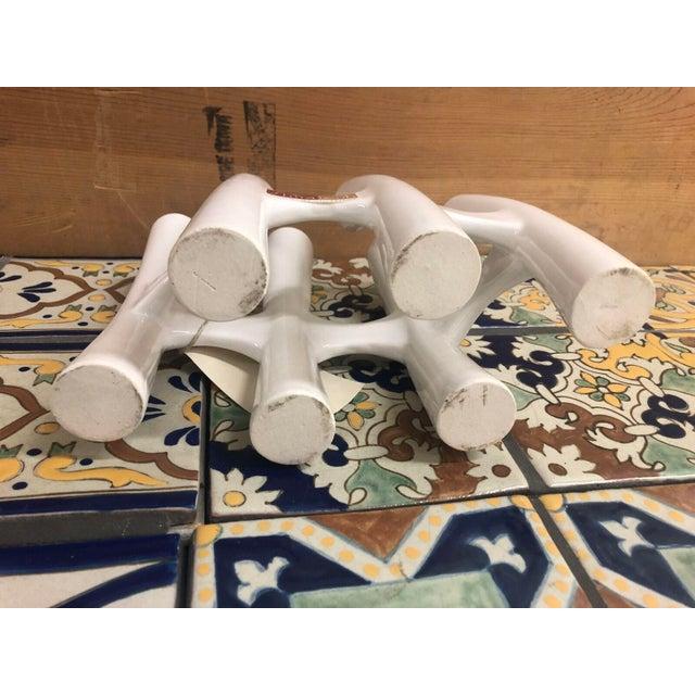 White Vintage White Coral Vase Flower Ceramic Vases - 3 Piece Set For Sale - Image 8 of 11