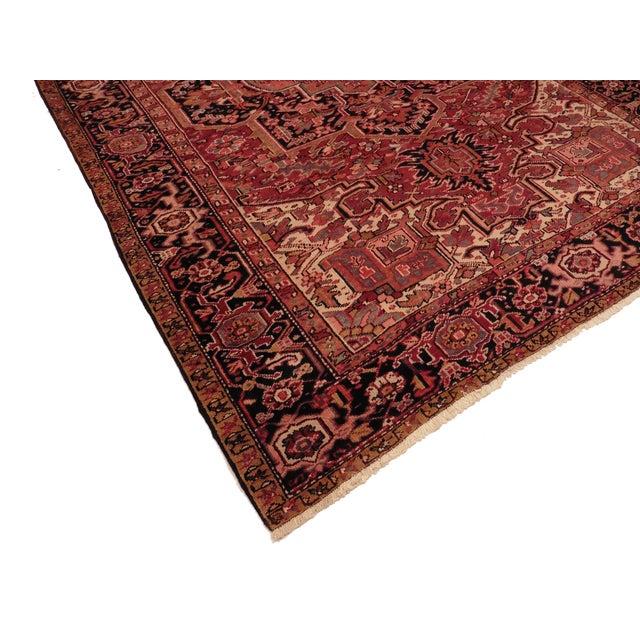 "RugsinDallas Vintage Persian Heriz Rug 8' 2"" X 11' 2"" - Image 2 of 2"