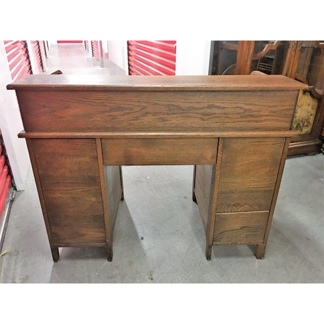Antique Oak Roll-Top Desk For Sale - Image 4 of 9 - Antique Oak Roll-Top Desk Chairish