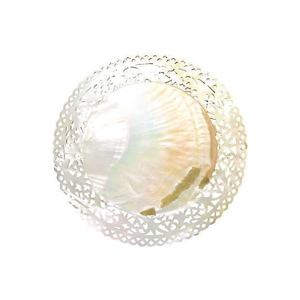 Antique Mother-Of-Pearl Caviar Plate For Sale - Image 4 of 5