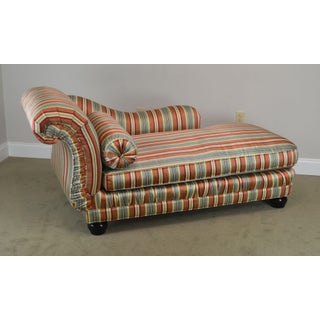 Century Custom Upholstered Recamier Chaise Lounge Preview