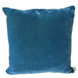 Artist Hand-Dyed Cushions Teal Front Coordinating Blue Green Back Preview
