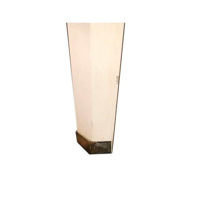 Metal Mid-Century Cream Octagon Shaped Side Tables - a Pair For Sale - Image 7 of 10