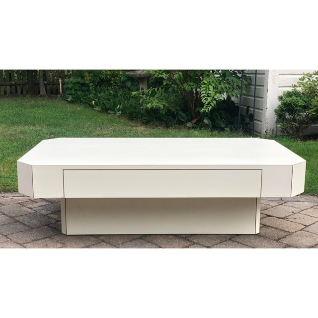 Mid-Century Modern 1980s Geometric Laminate Coffee Table For Sale - Image 3 of 13