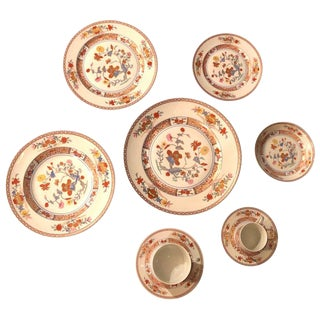Limoges Pondicherry Complete Dinner Service for Six, Nine Piece Each, French For Sale