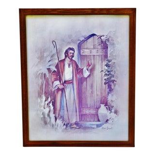 Vintage Alan Grant Framed Religious Print