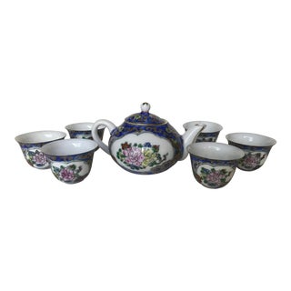 Miniature Chinese Famille Rose Tea Set For Sale