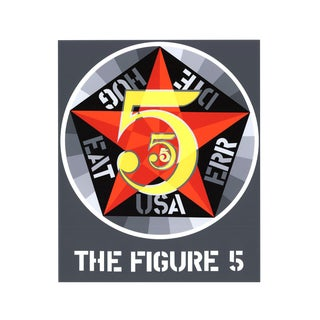 Robert Indiana, The Figure Five, 1997 Serigraph For Sale