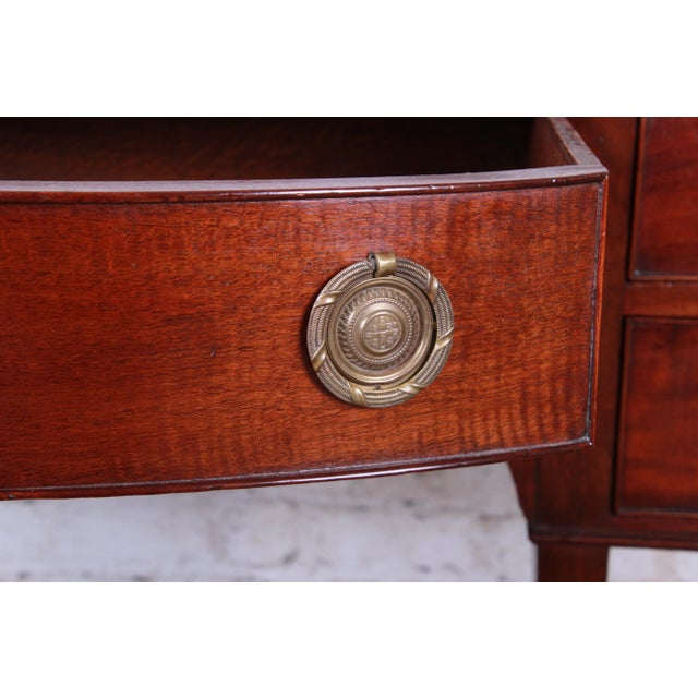 Antique English Hepplewhite Style Mahogany Sideboard Buffet For Sale - Image 9 of 13