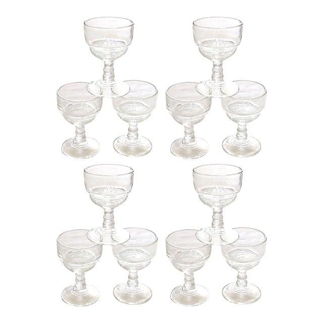 Art Deco Cordial / Liqueur Glasses, Set of 12 For Sale