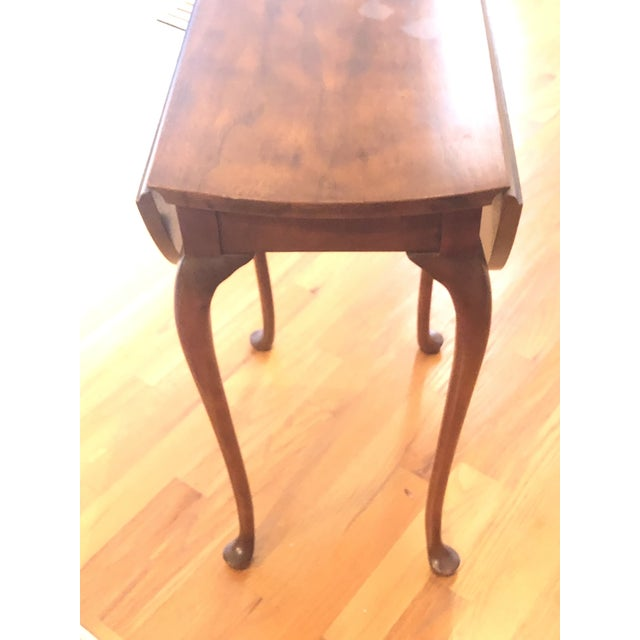 Traditional Traditional Small Mahogany Baker Drop Leaf Table For Sale - Image 3 of 6