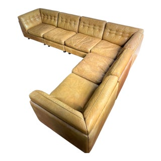 Vatne Mobler Vintage Leather Sectional Sofa For Sale