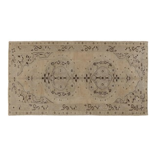 1960s Heritage Oushak Beige Area Rug-5'2'' X 9'11'' For Sale