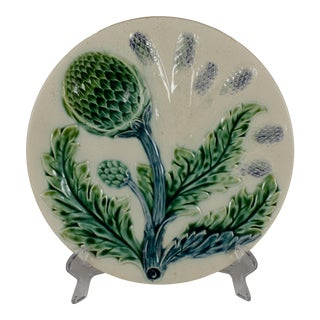 Luneville French Majolica Asparagus Plate, Circa 1890 For Sale