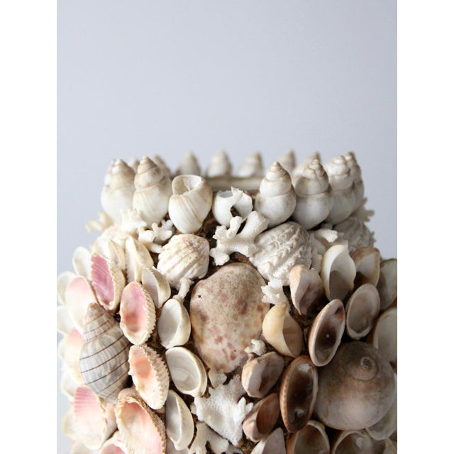 Vintage Seashell Vase For Sale - Image 11 of 12