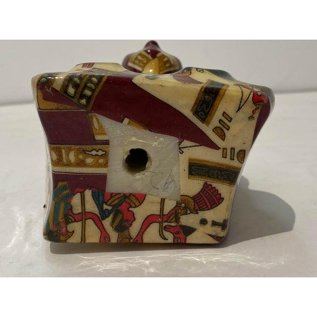 Tan Vintage King Tut Egypt Figurine For Sale - Image 8 of 9