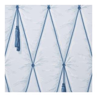 Schumacher X Paul Poiret Drapery Wallpaper in Blue For Sale