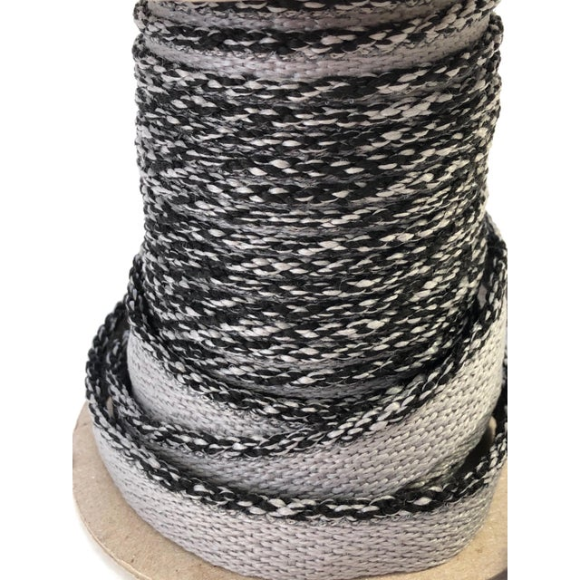 """Braided 1/8"""" Indoor-Outdoor Gray Cord Trim For Sale In New York - Image 6 of 9"""