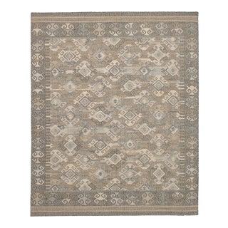 Turkish Kilim Sumak Style Distressed Wool Rug - 8′ × 10′