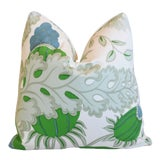 """Image of Designer Michael Szell Bold Botanical Feather/Down Pillow 21"""" Square For Sale"""