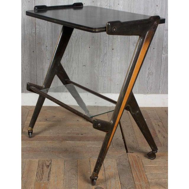 Ico Parisi Vintage Retro Italian Mid Century Modern Designer Desk Table by Ico Parisi For Sale - Image 4 of 4
