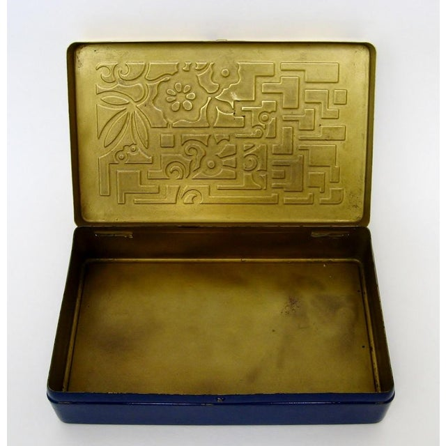 Vintage German Brass & Enamel Box - Image 5 of 6