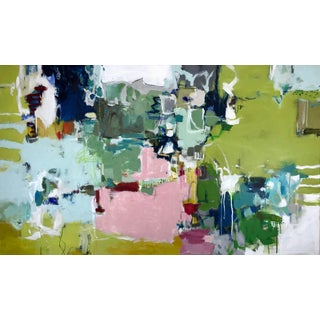 "Gina Cochran ""Let's Play Pretend"" Large Original Abstract Mixed Media Painting For Sale"