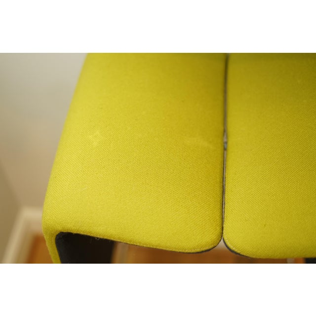 Modern B&b Italia 'Pyllon' Stool by Nicole Aebischer in Chartreuse- A Pair For Sale - Image 3 of 12