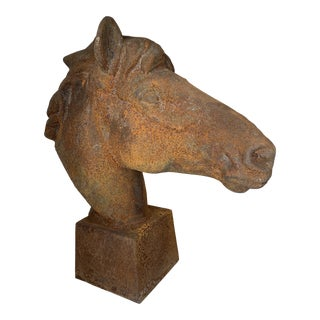 Large Cast Iron Horse Head For Sale