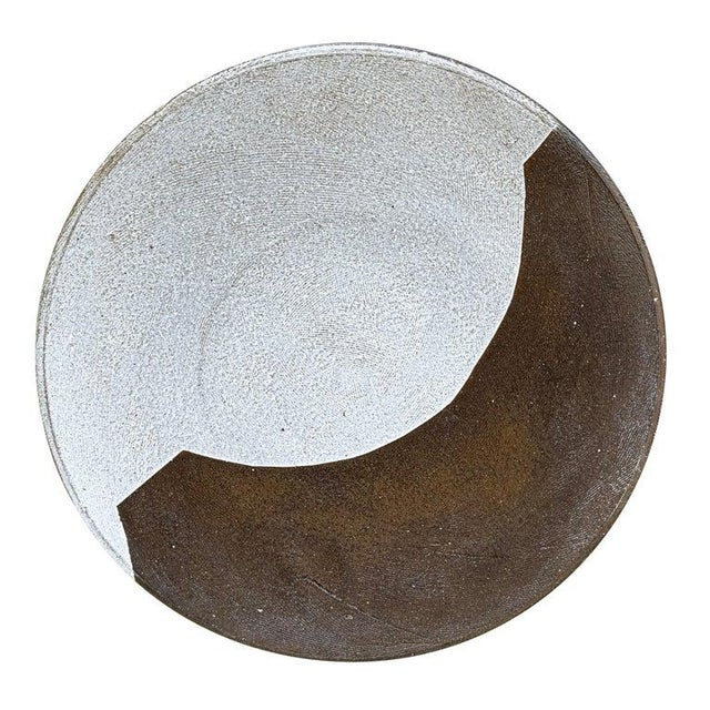 Early 21st Century Set of Eight Hand-Thrown Stoneware Dinner Plates For Sale - Image 5 of 13