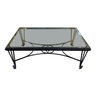 Formations Glass and Iron Coffee Table