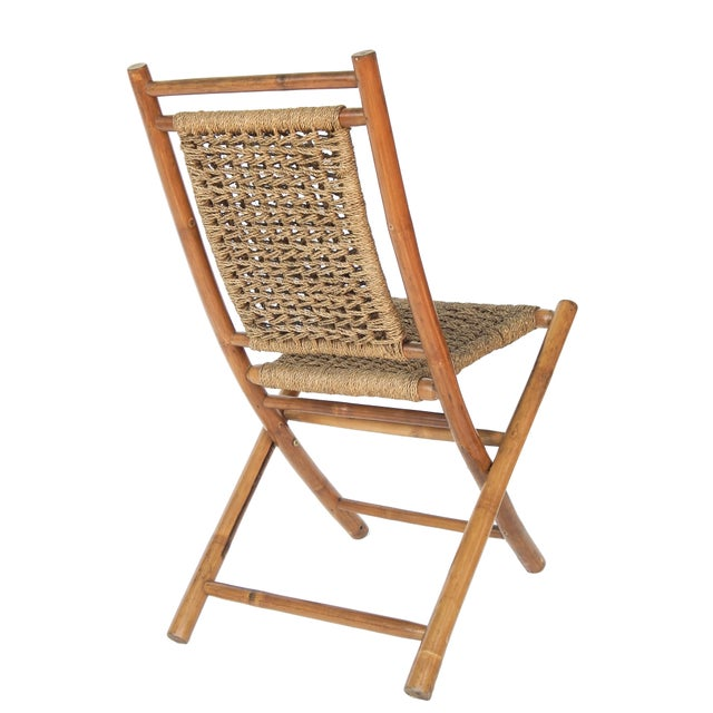 1920s Folding Bamboo Chairs For Sale - Image 5 of 11