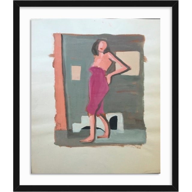 "Mid Century Bay Area Figurative Painting ""Angelina"" For Sale In New York - Image 6 of 7"