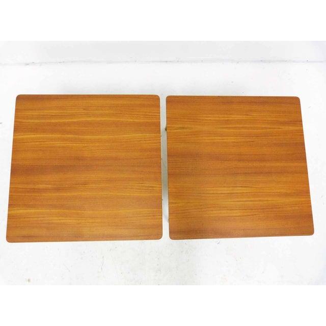 Tingstroms of Sweden Teak Side Tables - A Pair For Sale - Image 4 of 8