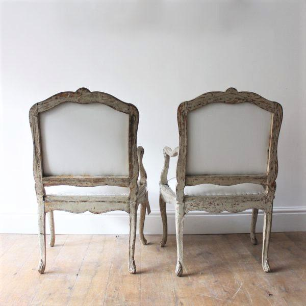 "18th C Louis XV Armchairs, Signed ""Blanchard"" Pair For Sale - Image 4 of 7"
