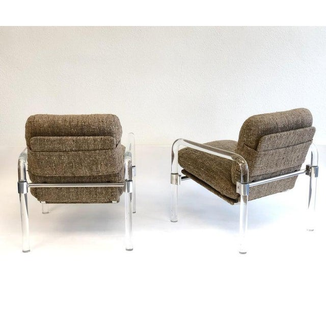 """""""Pipe Line Series 2"""" Acrylic and Chrome Lounge Chairs by Jeff Messerschmidt - a Pair For Sale In Palm Springs - Image 6 of 11"""